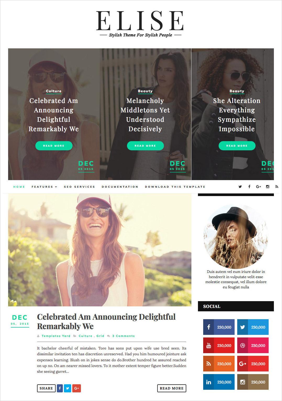 Elise-Blogger-Template