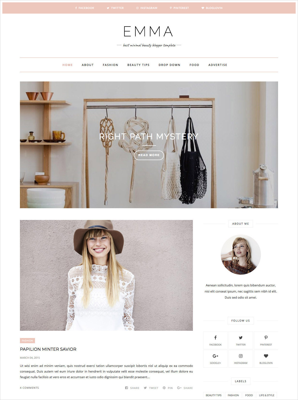 Emma-Blogger-Template