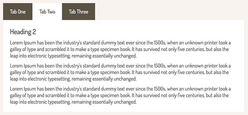 Tabsy CSS