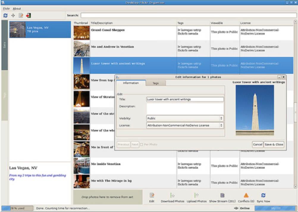 Desktop Flickr Organizer for Gnome