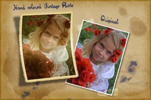 Handcolored vintage photo