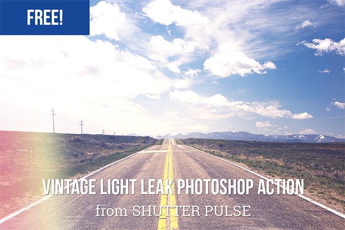 Free Vintage Light Leak Photoshop Action