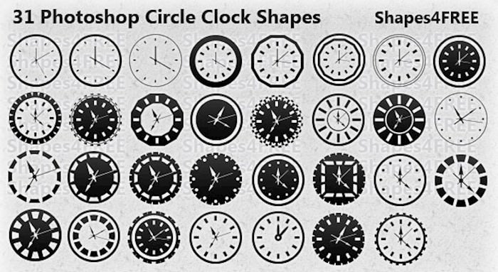 circle-clock-shapes