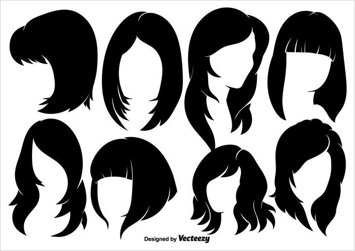 woman-hairstyles-silhouettes