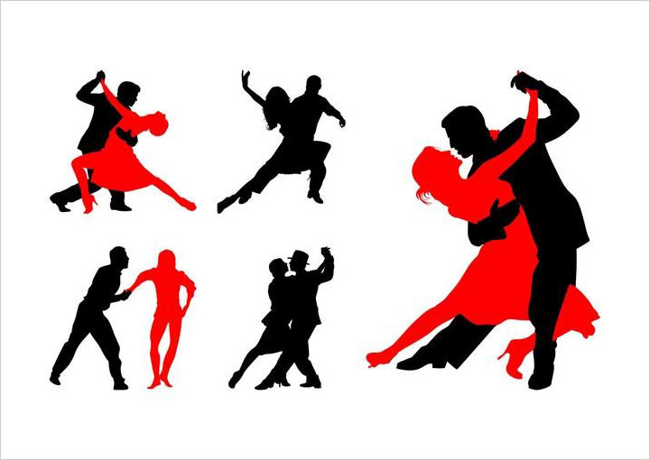 dancing-couples-silhouettes