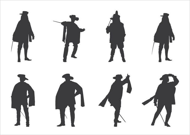 musketeers-silhouettes