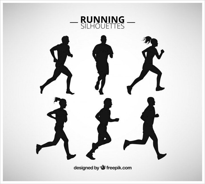 running-silhouettes