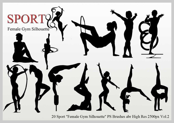 female-gym-silhouette-ps-brushes