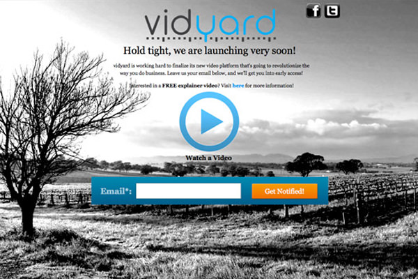 vidyard split a/b testing conversion rates video landing webpage