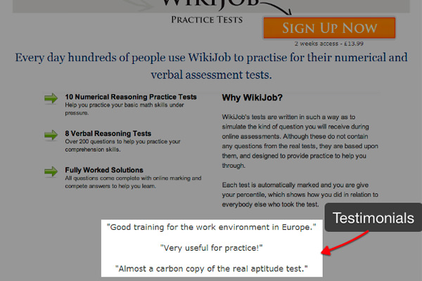 visual website wikijob ab testing testimonials