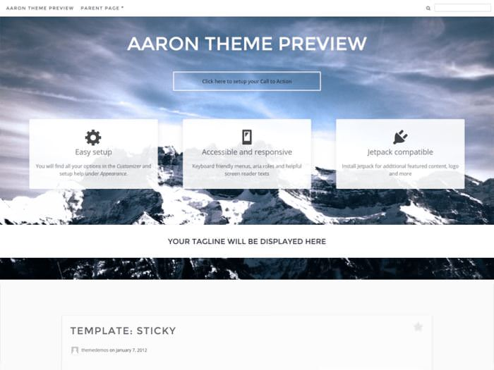 Aaron WordPress Theme