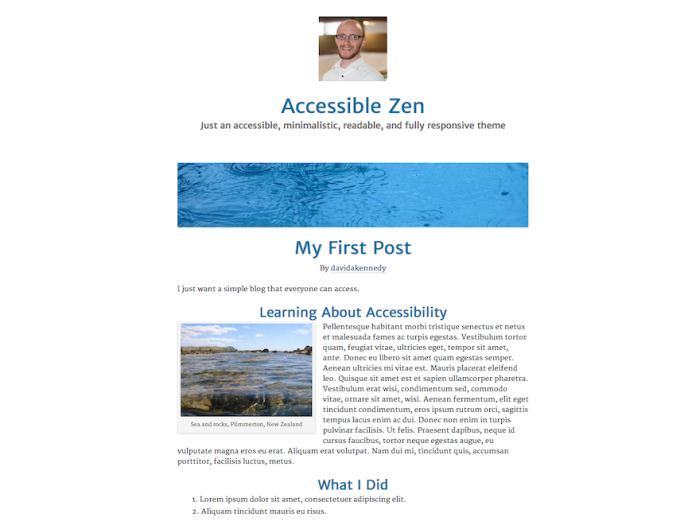 Accessible Zen WordPress Theme