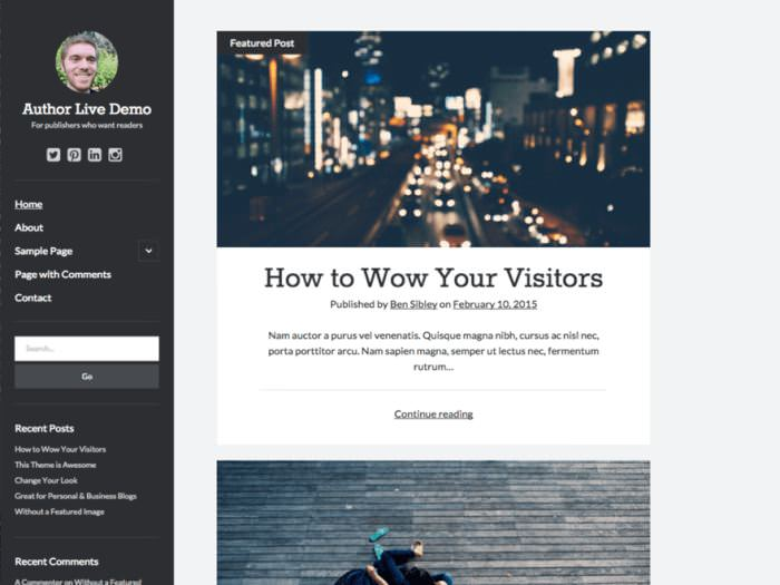 Author WordPress Theme