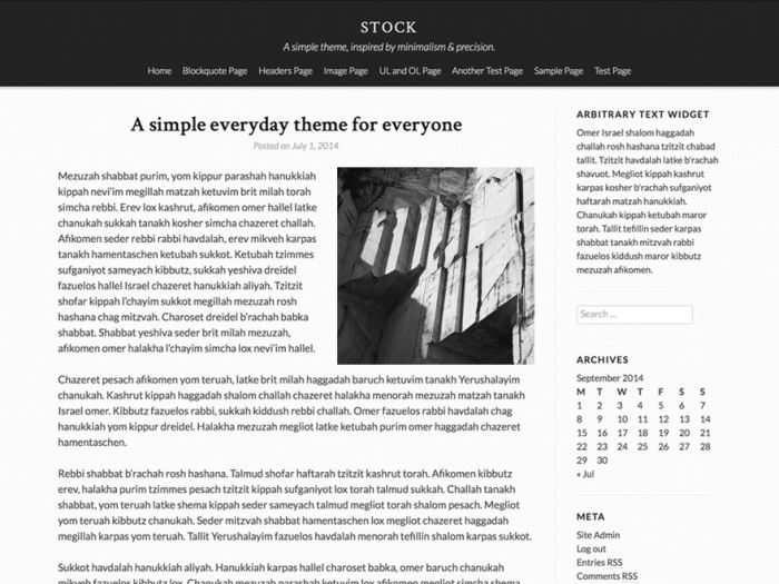 Stock WordPress Theme
