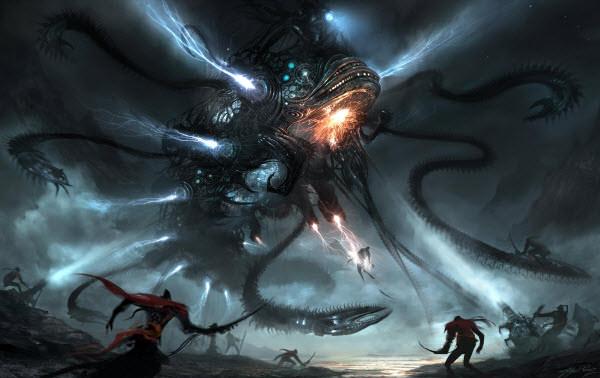 mech dragon battle