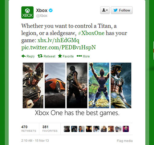 x box one tweet