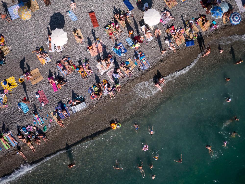 The Beach Over Embattled Territory Abkhazia