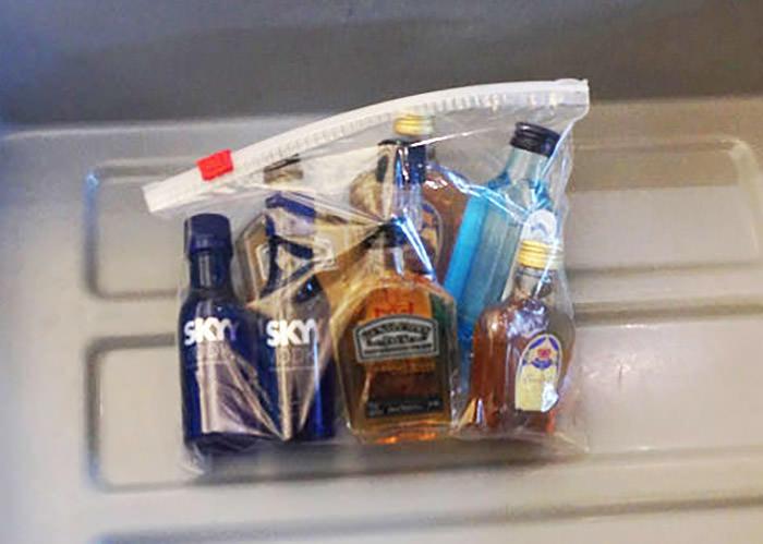 booze on plane