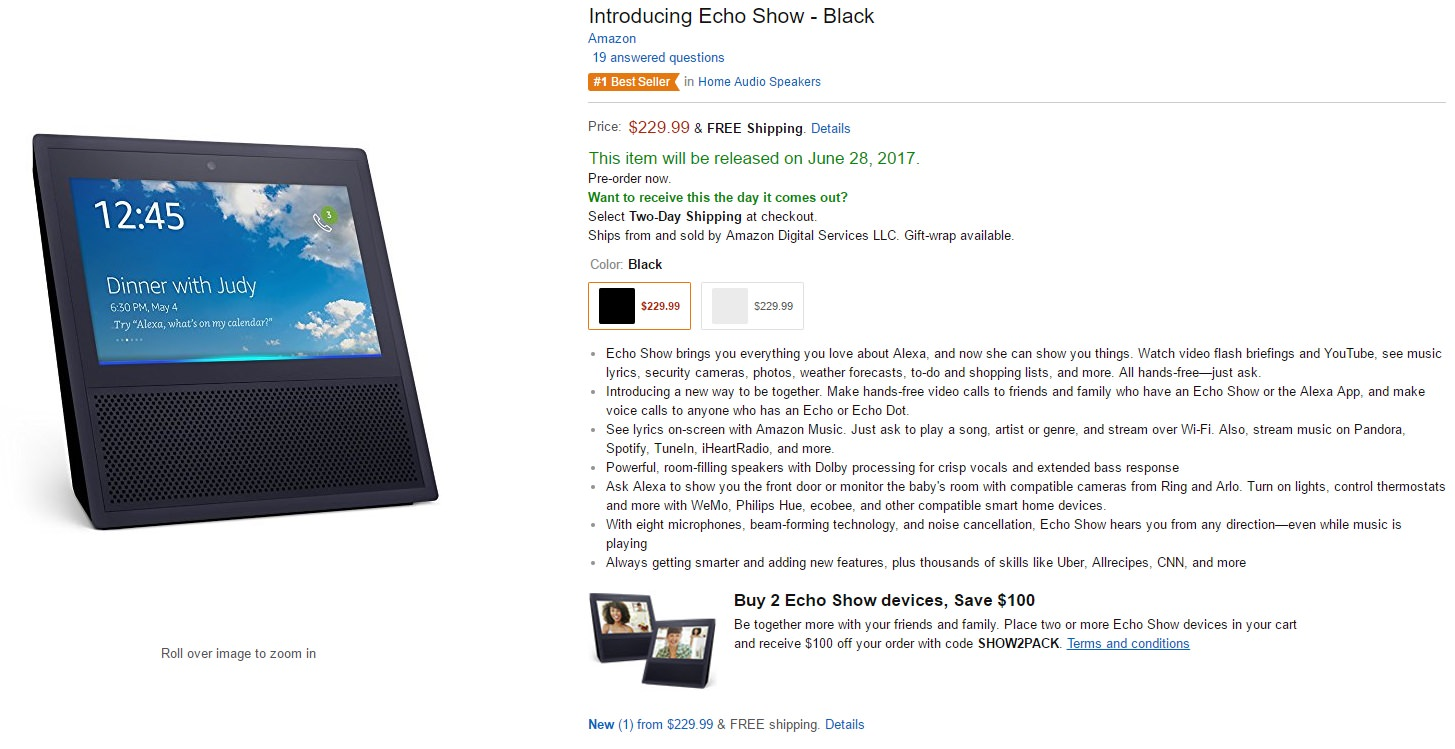 purchase echo show