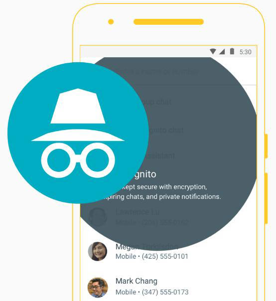 Google Allo - Incognito mode