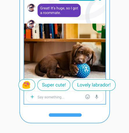 Google Allo - Smart replies