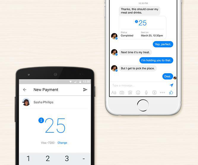 Messenger can send money now