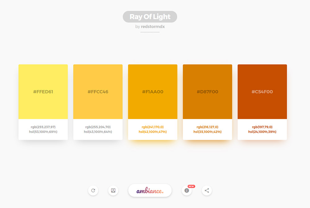 Ambiance color generator