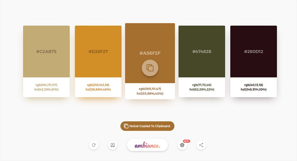 Ambiance color generator web app