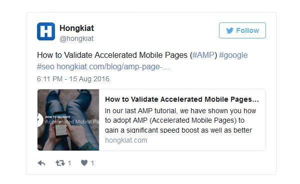 AMP Twitter Example