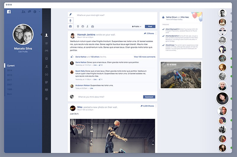 marcelo silva facebook redesign
