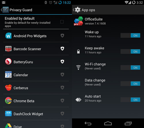 CyanogenMod Privacy Guard