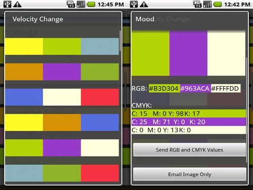 Color Mood Designer Android Apps for Designers