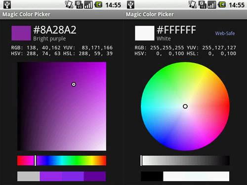 Magic Color Picker Android Apps for Designers