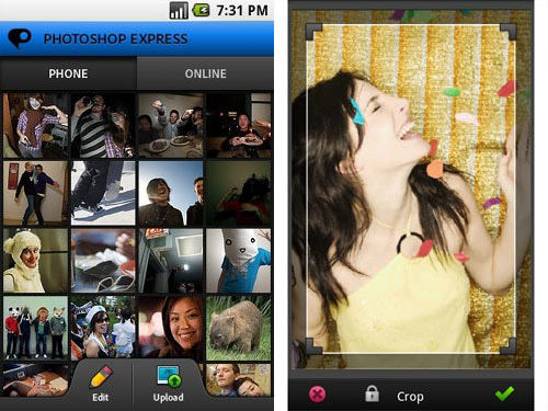 Photoshop Express for Android Android Apps for Designers