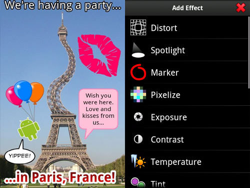 PicSay Android Apps for Designers