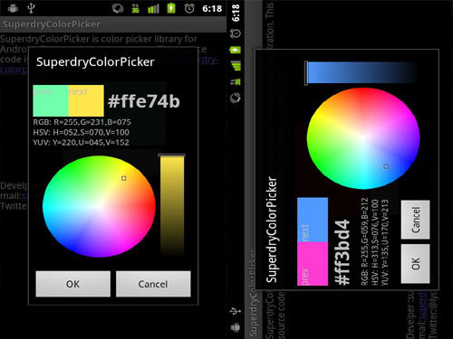 Superdry Color Picker Android Apps for Designers
