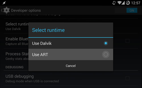 Switch Dalvik To ART