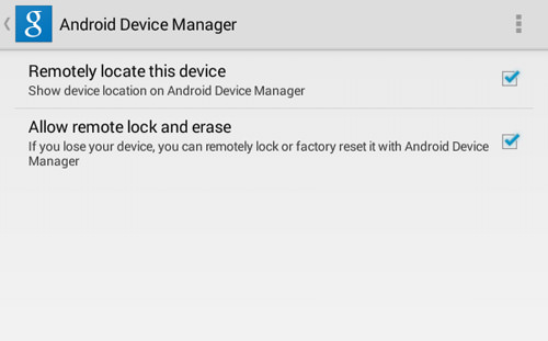 Enable Android Device Manager Features