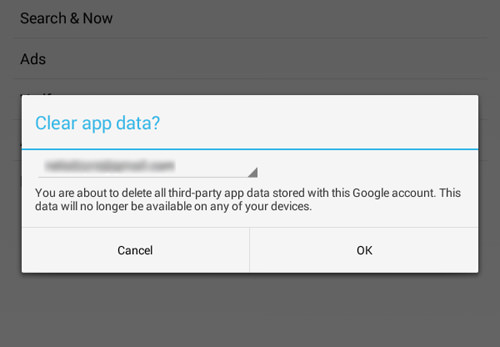 Clear Third-Party App Data Store Within Your Google Account