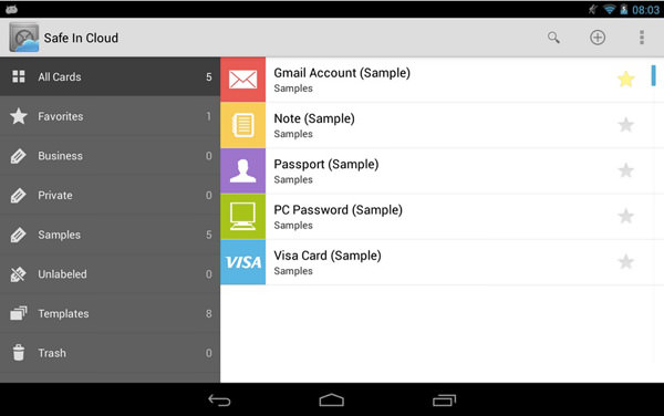 7 android apps to create and manage passwords hongkiat for Cloud vault app