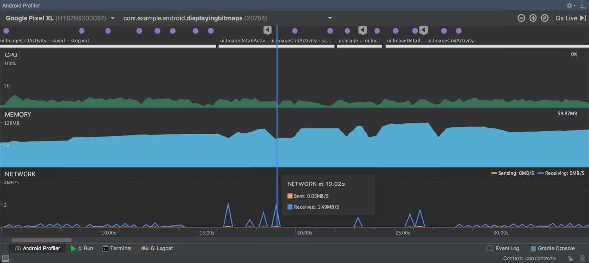Android Studio 3.0 introduces Android Profiler