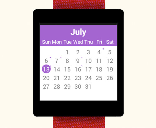 Calender Android Wear
