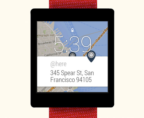 @here Android Wear