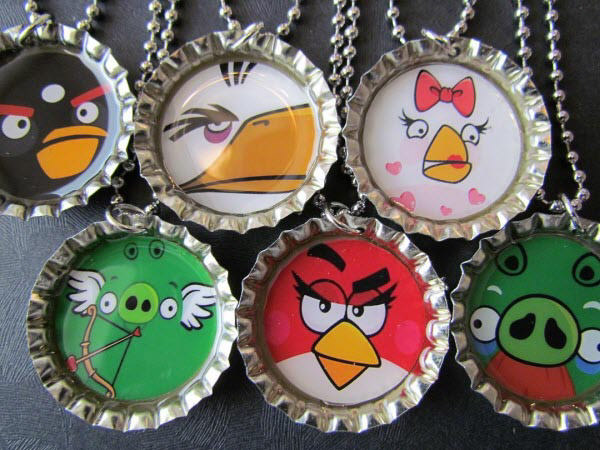 angry birds bottle cap necklace 2