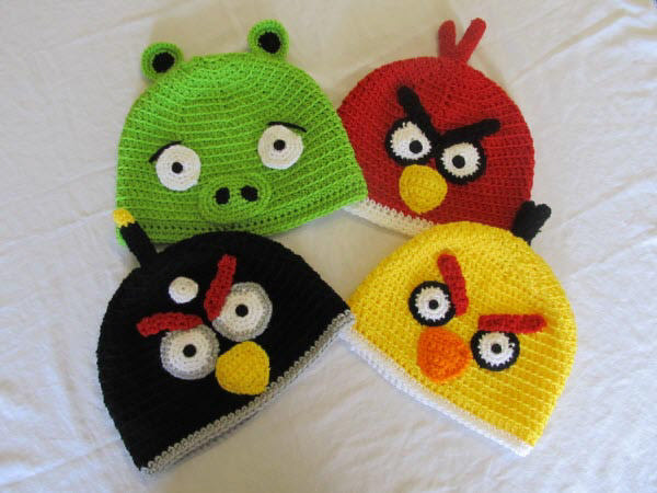 angry birds hat set