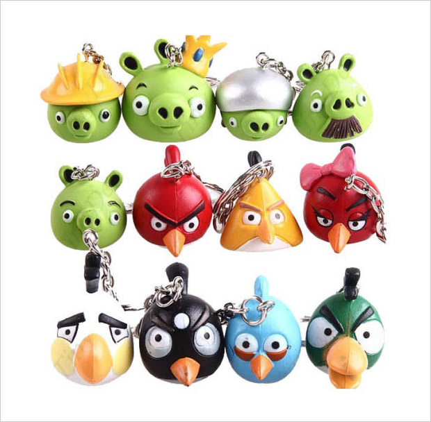 angry birds keychain set