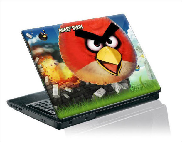 angry birds laptop skin