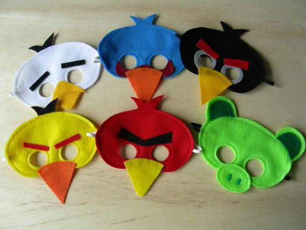 angry birds mask set