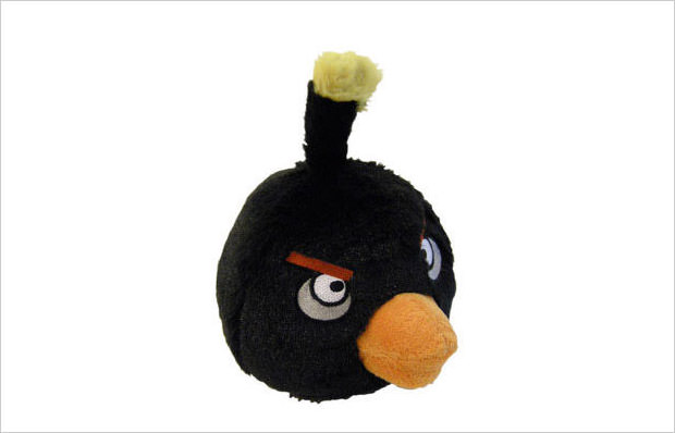plush black bird