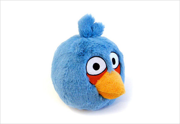 plush blue bird